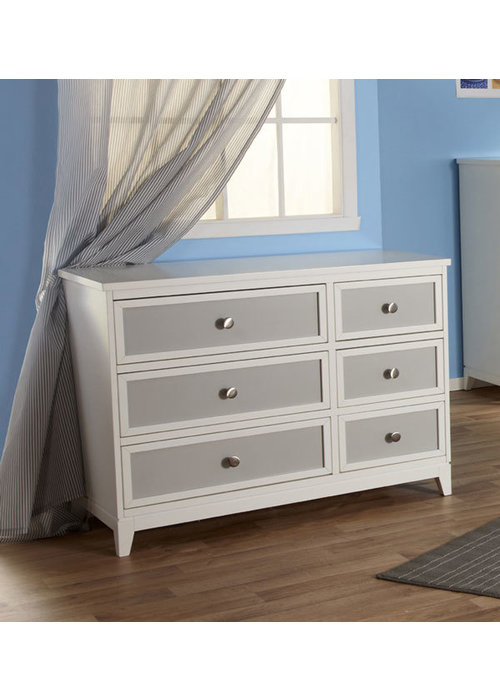 Pali Furniture Pali Furniture Treviso Double Dresser In White-Gray