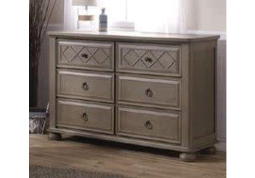 Pali Furniture Pali Furniture Vittoria Double Dresser In Distressed Desert