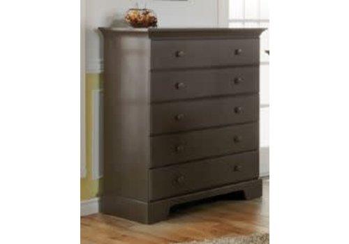 Pali Furniture Pali Furniture Volterra 5 Drawer Dresser In Slate