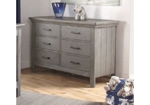 Pali Furniture Pali Furniture Como Double Dresser In Distressed Granite