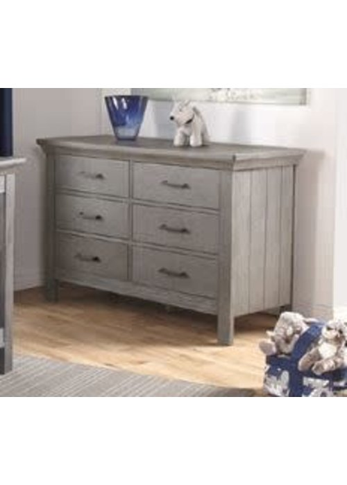 Pali Furniture Pali Furniture Como Double Dresser In Distressed Granite