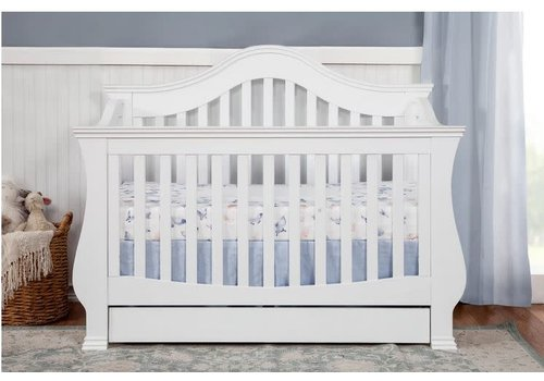 Million Dollar Baby Million Dollar Baby Ashbury 4 In Convertible Crib With Toddler Bed Conversion Kit In White