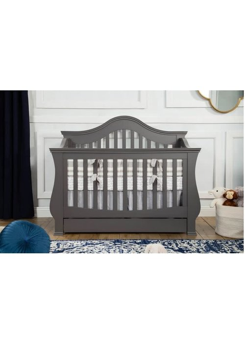 Million Dollar Baby Million Dollar Baby Ashbury 4 In Convertible Crib With Toddler Bed Conversion Kit In Manor Grey