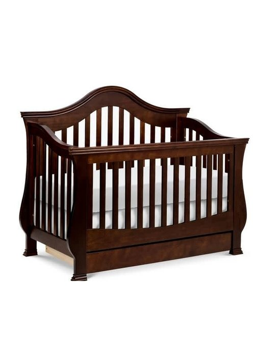 Million Dollar Baby Million Dollar Baby Ashbury 4 In Convertible Crib With Toddler Bed Conversion Kit In Espresso