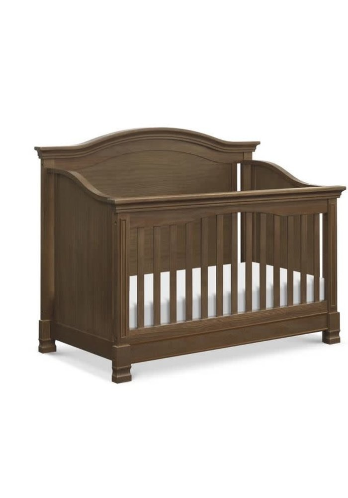 Million Dollar Baby Louis 4-in-1 Convertible Crib with Toddler Bed Conversion Kit In Mocha