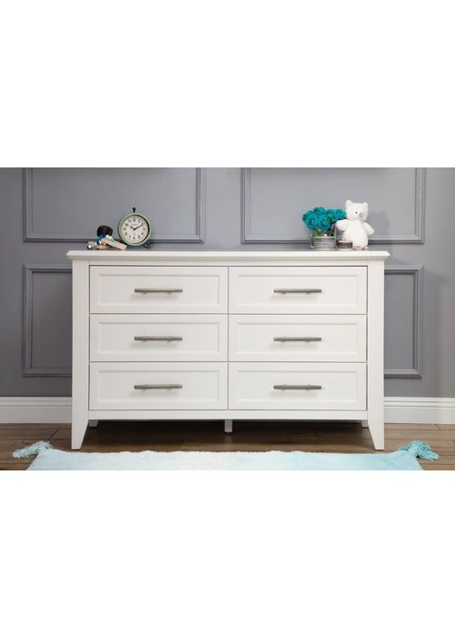 Franklin And Ben Franklin And Ben Beckett 6 Drawer Double Dresser In White
