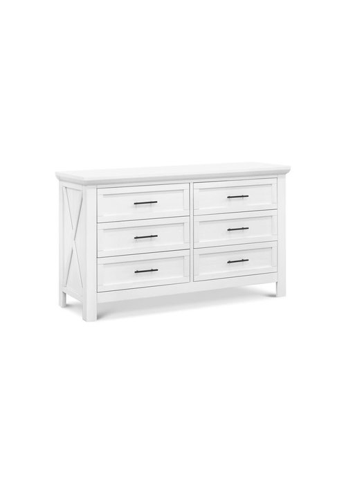 Franklin And Ben Franklin And Ben Emory Farmhouse 6 Drawer Double Dresser In Linen White