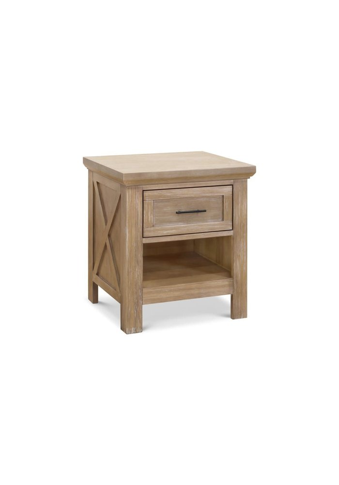 Franklin And Ben Emory Farmhouse Nightstand In Driftwood Finish