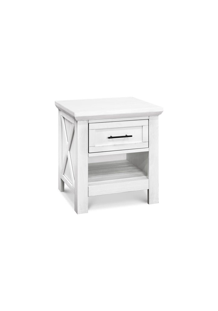 Franklin And Ben Emory Farmhouse Nightstand In Linen White