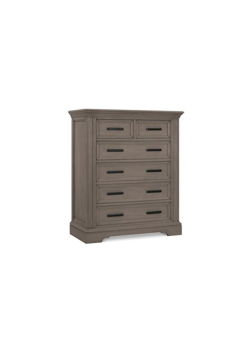 Franklin And Ben Franklin And Ben Holloway Tall 6 Drawer Dresser In French Roast