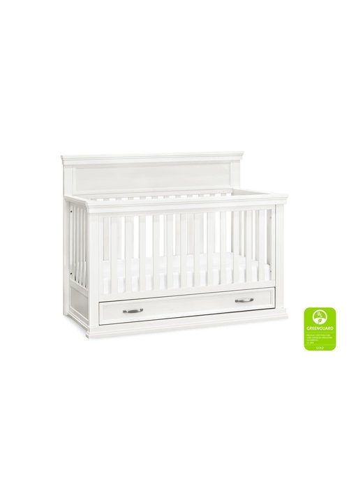 Franklin And Ben Franklin And Ben Langford 4 In 1 Convertible Crib With Drawer In Warm White