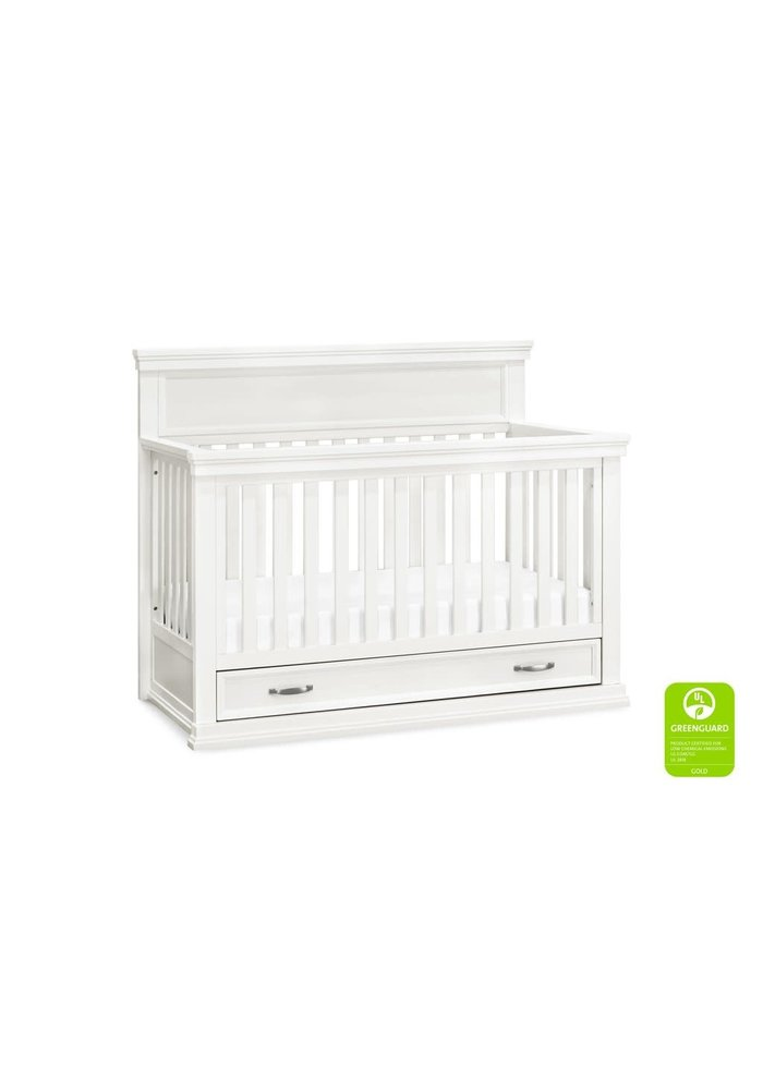 Franklin And Ben Langford 4 In 1 Convertible Crib With Drawer In Warm White