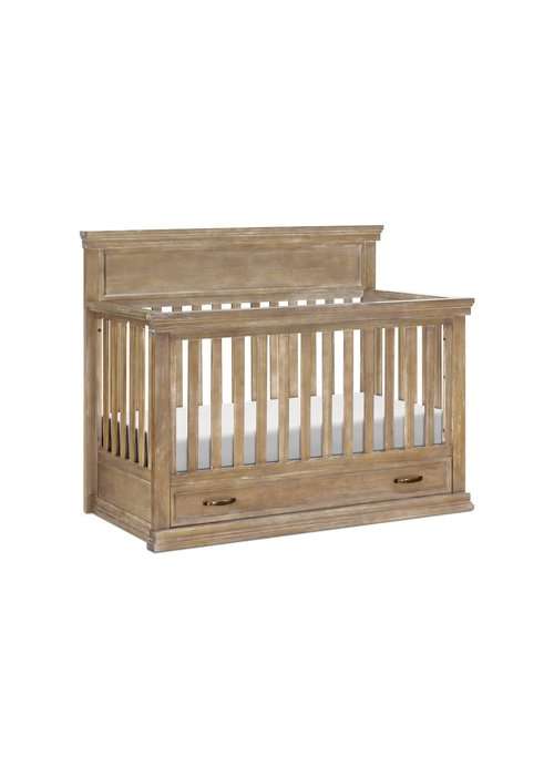 Franklin And Ben Franklin And Ben Langford 4 In 1 Convertible Crib With Drawer In Driftwood Finish
