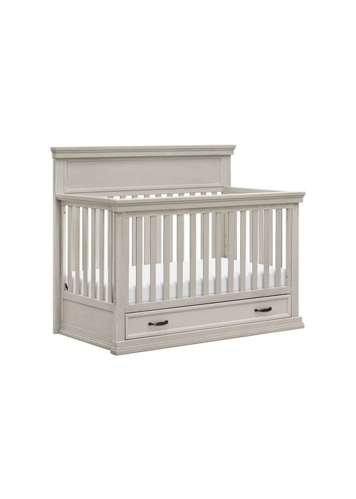 Franklin And Ben Franklin And Ben Langford 4 In 1 Convertible Crib With Drawer In London Fog