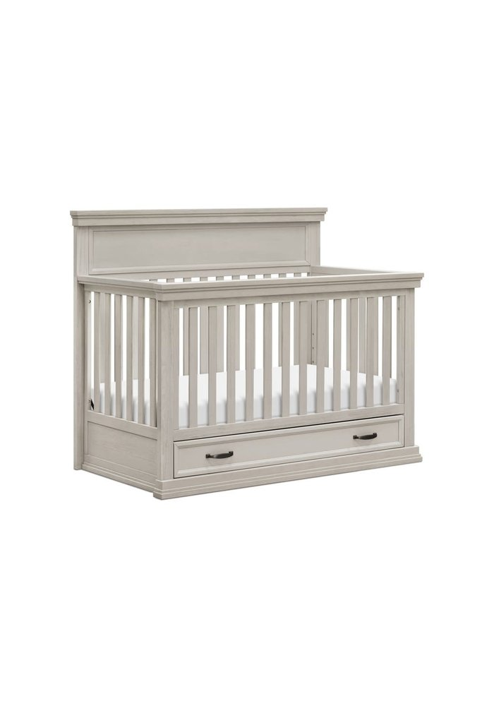 Franklin And Ben Langford 4 In 1 Convertible Crib With Drawer In London Fog