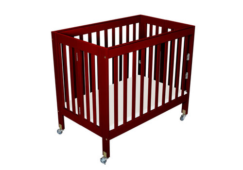 Fizzy Baby Fizzy Baby Modern Mini Porta Crib In Cherry- 3 Level