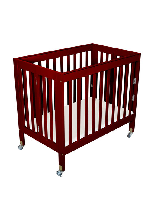Fizzy Baby Fizzy Baby Modern Mini Porta Crib In Cherry- 3 Level