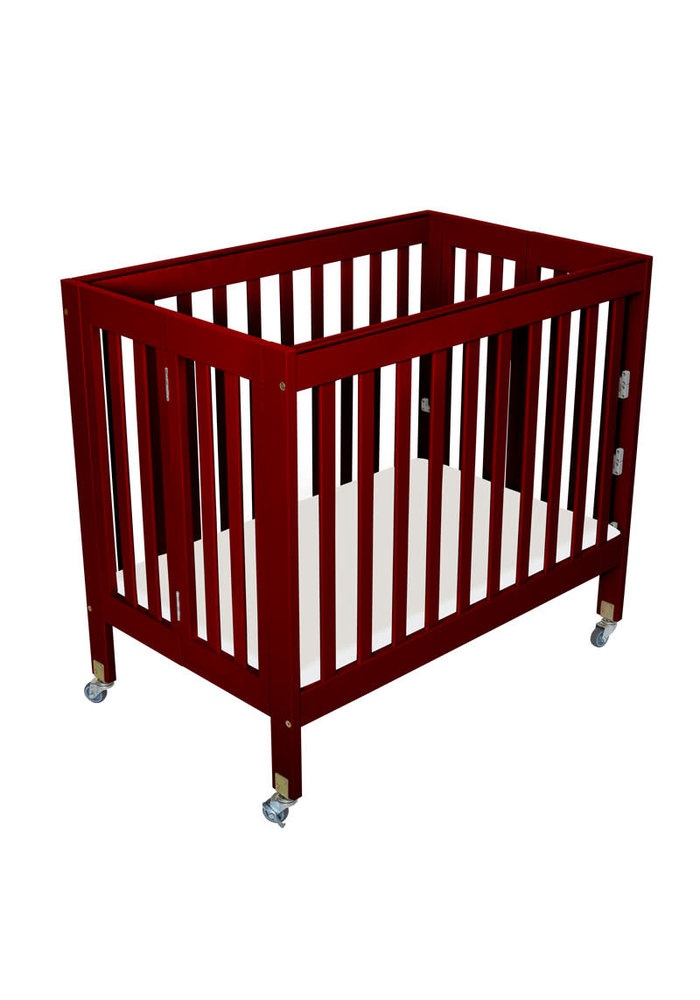 Fizzy Baby Modern Mini Porta Crib In Cherry- 3 Level