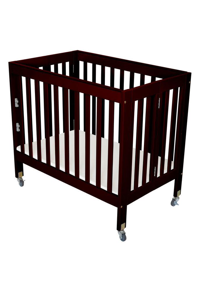 Fizzy Baby Modern Mini Porta Crib In Espresso- 3 Level