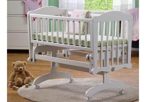 Sorelle Sorelle Berkley Cradle In White With Mattress