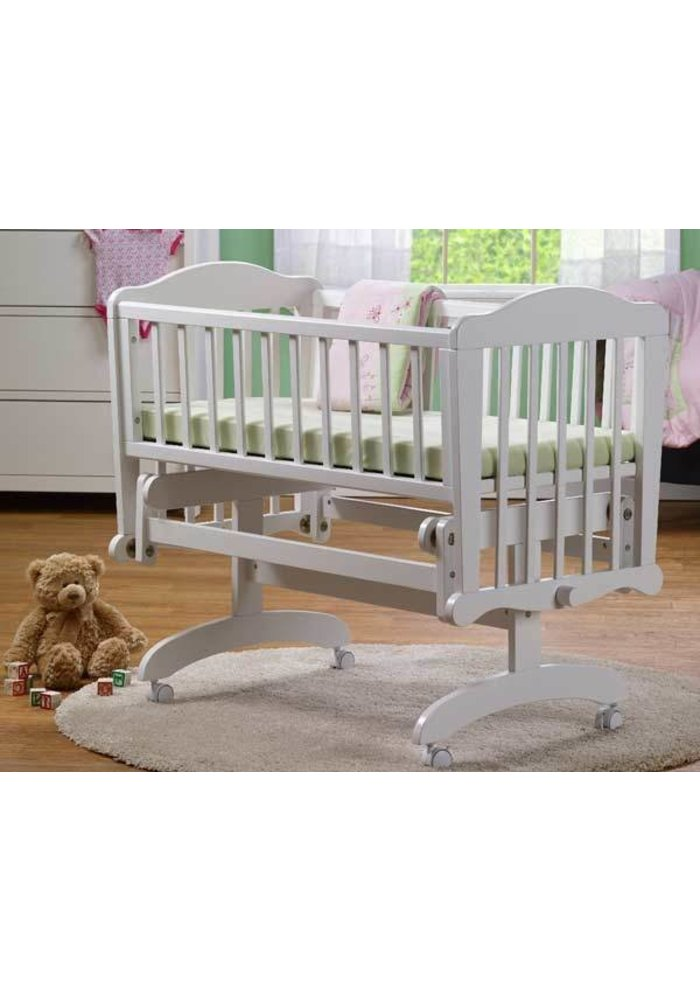 Sorelle Berkley Cradle In White With Mattress