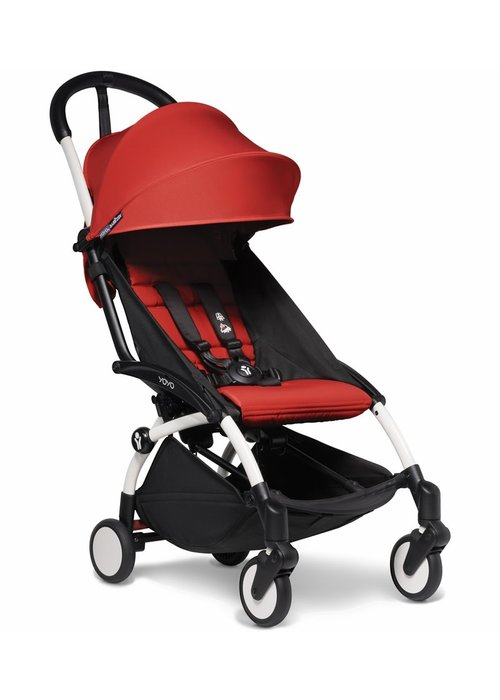 BabyZen Babyzen YOYO2 Ultra Compact 6+ Stroller - White/ Red