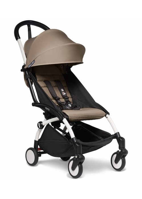 BabyZen Babyzen YOYO2 Ultra Compact 6+ Stroller - White/ Taupe