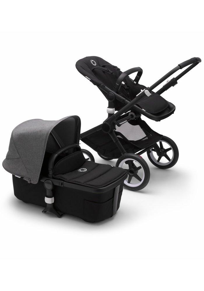 Bugaboo Fox2 Complete Stroller - Black/Black/Grey Melange