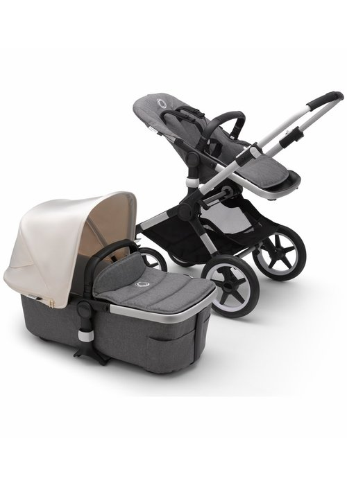 Bugaboo Bugaboo Fox2 Complete Stroller - Aluminum/Grey Melange/Fresh White