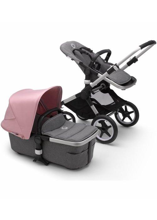 Bugaboo Bugaboo Fox2 Complete Stroller - Aluminum/Grey Melange/Soft Pink