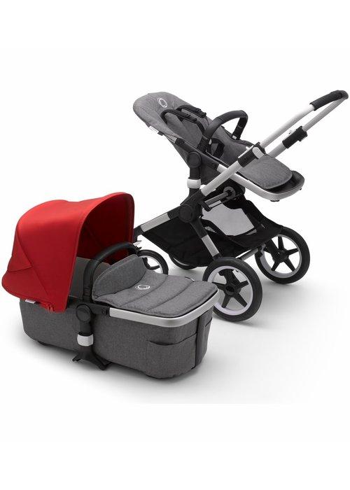 Bugaboo Bugaboo Fox2 Complete Stroller - Aluminum/Grey Melange/Red