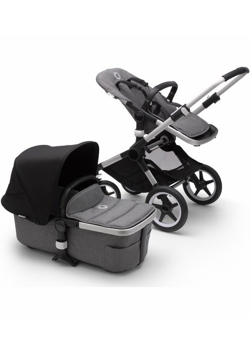 Bugaboo Bugaboo Fox2 Complete Stroller - Aluminum/Grey Melange/Black