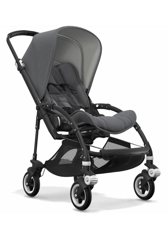 Bugaboo Bee5 Complete Stroller -Black/Grey Melange/ Grey Melange