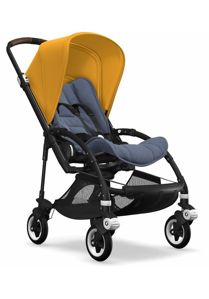 Bugaboo Bee5 Complete Stroller -Black/Blue Melange/Sunrise Yellow