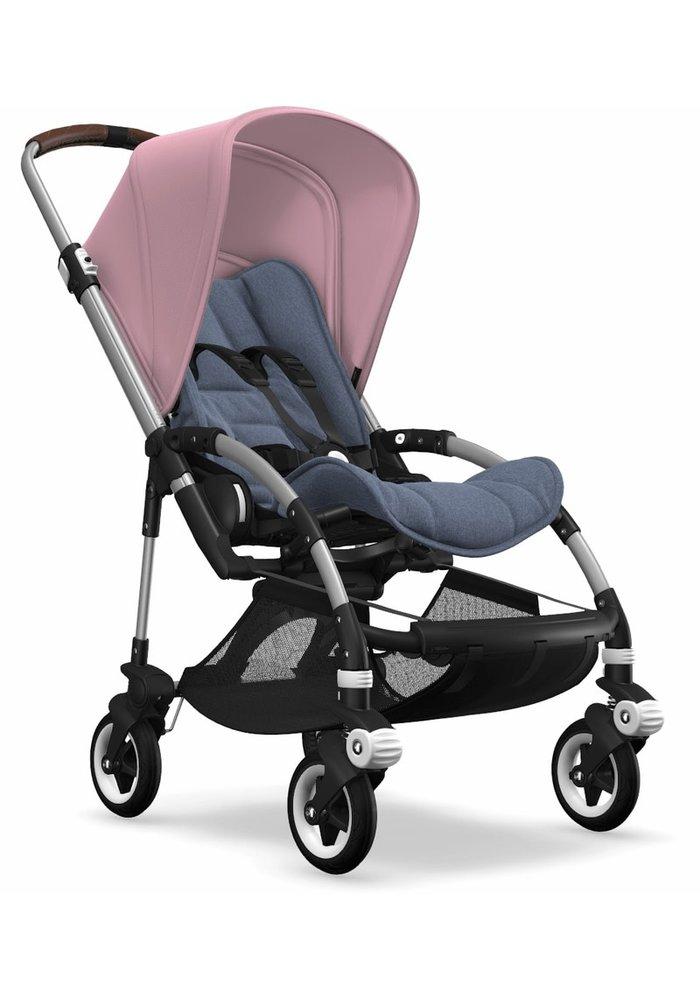 Bugaboo Bee5 Complete Stroller -Aluminum Frame/ Blue Melange/Soft Pink