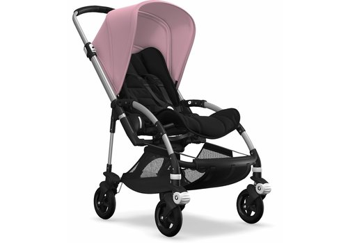 Bugaboo Bugaboo Bee5 Complete Aluminum Frame/ Black Seat And Soft Pink  Canopy