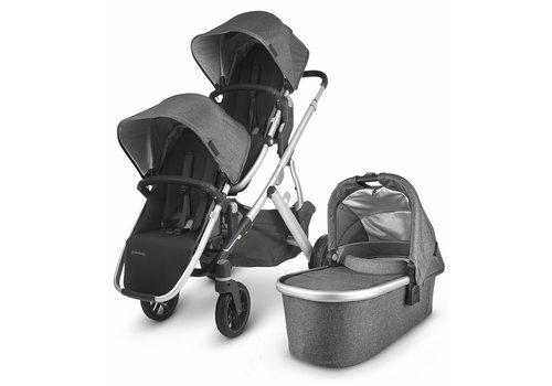 UppaBaby UPPAbaby 2020 Vista V2 Double Stroller - Jordan (Charcoal Mélange/Silver/Black Leather)