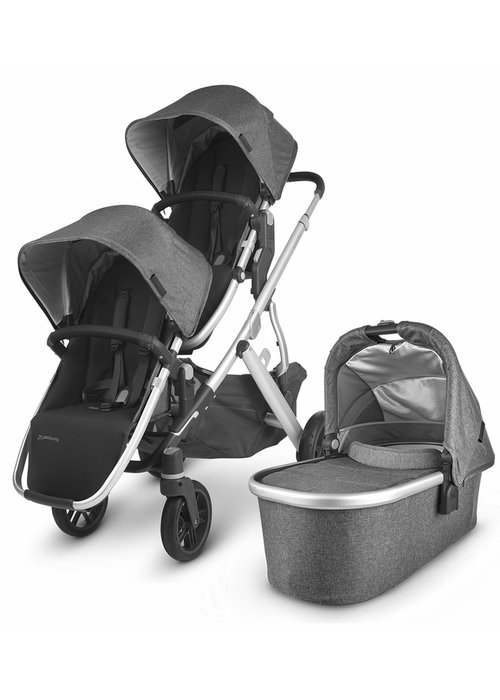 UppaBaby UPPAbaby 2020 Vista V2 Double Stroller - Jordan (Charcoal Mélange/Silver/Black Leather)