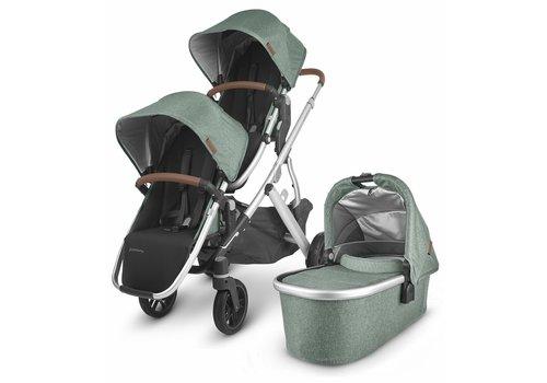UppaBaby UPPAbaby 2020 Vista V2 Double Stroller - Emmett (Green Mélange/Silver/Saddle Leather)
