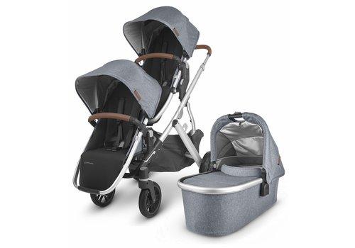 UppaBaby UPPAbaby 2020 Vista V2 Double Stroller - Gregory (Blue Mélange/Silver/Saddle Leather)