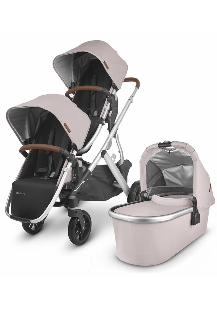 UPPAbaby 2020 Vista V2 Double Stroller - Alice (Dusty Pink/Silver/Saddle Leather)