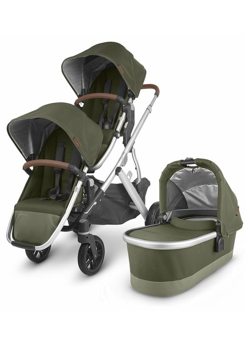 UppaBaby UPPAbaby 2020 Vista V2 Double Stroller - Hazel (Olive/Silver/Saddle Leather)