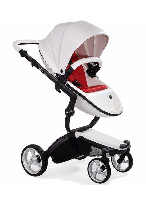 Mima Kids Mima Xari Complete Stroller, Black - Snow White / Ruby Red