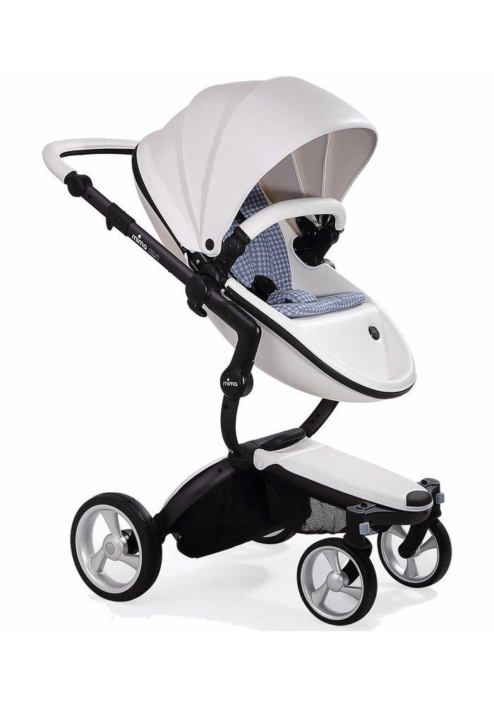 Mima Xari Complete Stroller, Black - Snow White / Retro Blue