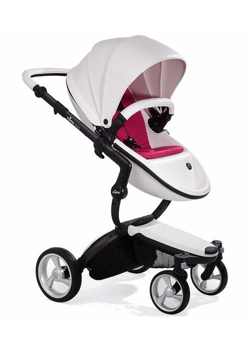 Mima Kids Mima Xari Complete Stroller, Black - Snow White / Magenta