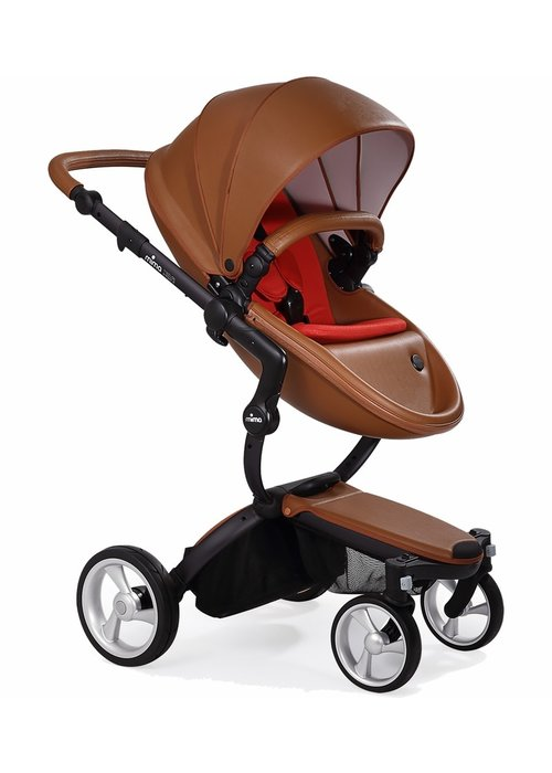 Mima Kids Mima Xari Complete Stroller, Black - Camel / Ruby Red