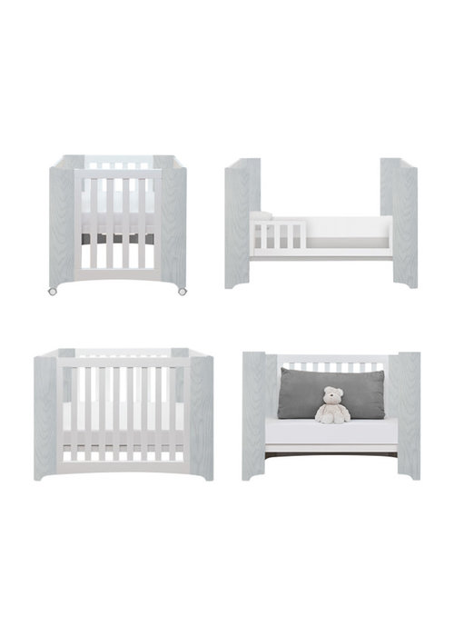 Cocoon Cocoon Evoluer 4 In 1 Dove Grey- Bassinet, Crib, Toddler, Day Bed