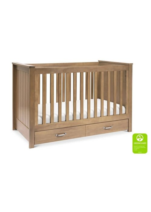 DaVinci Davinci Asher 3-in-1 Convertible Crib with Toddler Bed Conversion Kit In Hazelnut