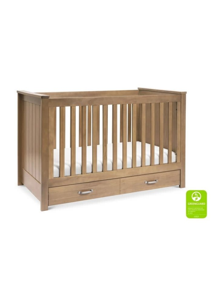 Davinci Asher 3-in-1 Convertible Crib with Toddler Bed Conversion Kit In Hazelnut
