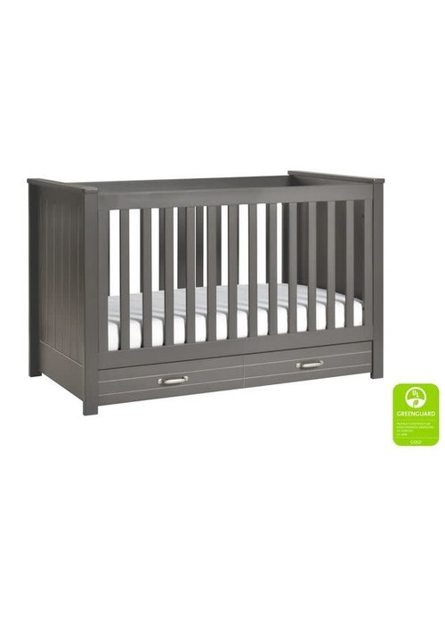 DaVinci Davinci Asher 3-in-1 Convertible Crib with Toddler Bed Conversion Kit In Slate